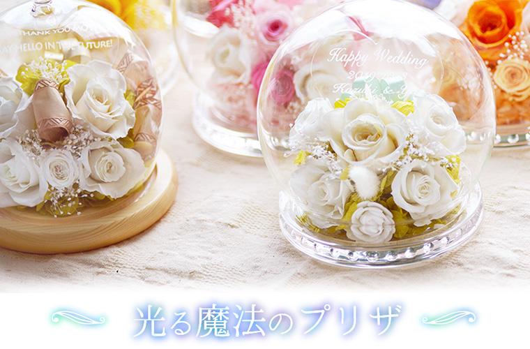 エフアートで一番人気の花ギフト光るドーム