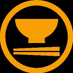 お箸とお椀のアイコン