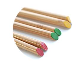 国産九州竹を使った名入れ竹箸3膳の見本